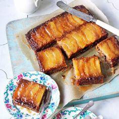 Een+heerlijke+karamel+appeltaart+van+de+plaat.+super+met+een+dotje+slagroom+of+een+bolletje+ijs.