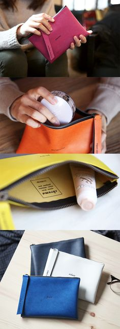 Such a stylish and classy pouch that keeps my bag stay organized and prevents me from scrambling through my bag to find my stuff!