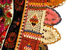 crochet edging on early 20C shirt, Hungary.  Textiles and Costumes | Henry Art Gallery