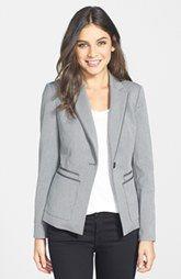 Halogen® Trim Detail One-Button Suit Jacket (Regular & Petite)