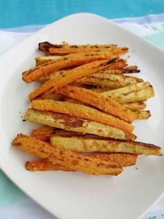 Vegan Hummus Coated Carrot and Parsnip Fries