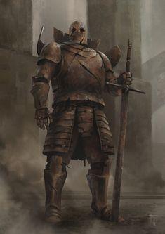 Rust by Jens Kuczwara - Fantasy Dark Fantasy Art, Fantasy Concept Art, High Fantasy, Fantasy Rpg, Fantasy Character Design, Medieval Fantasy, Fantasy Artwork, Character Art, Fantasy Monster