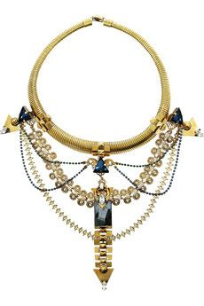 ERICKSON BEAMON	Alchemy gold-plated Swarovski crystal necklace