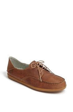 Olukai 'Heleuma' Sneaker (Women) #Nordstrom. Just got this shoe and love it too. Looks so good - sort of retro but timeless. Looks great with jeans. Fits and wears beautifully. (Also notice they have the bend over section at the back of the shoe - in case you wish to wear as a slip on.)