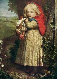 "goldenbookillustration:  ""Red Riding Hood"" From the picture by George Frederic Watts in the Birmingham Art Gallery From The Project Gutenberg EBook of The Book of Art for Young People, by Agnes Conway, Sir Martin Conway Project Gutenberg eT"