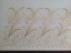 Mihrican Kaya, whitework embroidery,(19th century embroidery reworked)