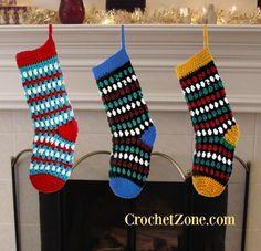 Free Crochet Pattern for Diamonds & Gems Stockings