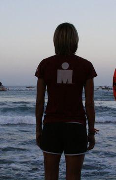 Watching the swim start at the Ironman World Championships in Kona Hawaii 2010.
