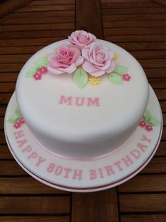 80th Birthday Cake 75 With Flowers Cakes For Women