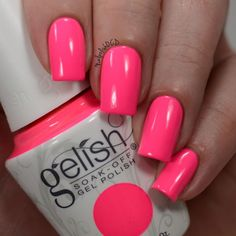 This one is my favorite! Pretty As A Pink-ture from @gelish_official is a gorgeous neon pink! I used 3 thin coats plus foundation and top coat for this swatch. I added some stamped palm trees (swipe to see that look) I love a good neon pink! All provided for review by @preendotme through their VIP program. #gelish_official #preendotme #prsample #selfiereadynails #nailsofinstagram #nailstagram #nailsofig #ignails #instamani #instanails #nailartaddict #nailartoohlala #manicure #mani #mynails…