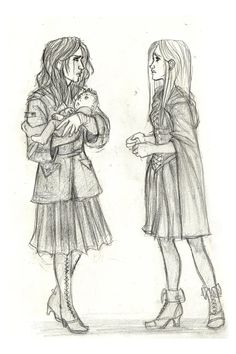 Black Sisters by ~Catching-Smoke on deviantART. Andromeda Tonks and Narcissa Malfoy after the Battle of Hogwarts.