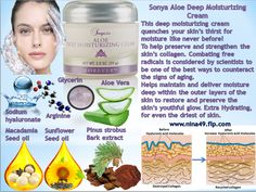 Sonya Aloe Deep Moisturizing Cream # 311 order at www.nina49.flp.com