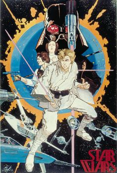 First advance Star Wars poster given to fans in 1976 at comic conventions. Art b - Star Wars Canvas - Latest and trending Star Wars Canvas. - First advance Star Wars poster given to fans in 1976 at comic conventions. Art by Howard Chaykin. Star Wars Comics, Marvel Comics, Star Wars Collection, Star Wars Poster, Star Wars Art, Storyboard, Science Fiction, Alec Guinness, Star Wars Film