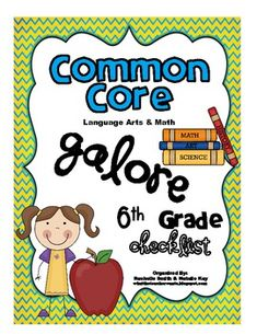*This is the Math and Language Arts CCSS Checklist bundled together!This Common Core State Standards checklist is for SIXTH GRADE and has both the Language Arts and Math checklists bundled together. These checklists are a great way to organize the Common Core and will help make sure you are teaching every part of the core.