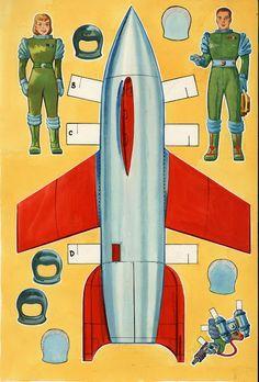 Dreams of Space - Books and Ephemera  Spaceport U.S.A. (1953)  The art b14b1201db204