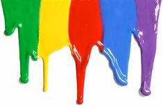 The rainbow is dripping. Room Paint Colors, Paint Colors For Living Room, Taste The Rainbow, Over The Rainbow, World Of Color, Color Of Life, Logo Abstrait, Rainbow Colors, Vibrant Colors