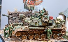 The Modelling News: TMN on Tour: Scale Model Challenge 2018 show Eindhoven NL. Patton Tank, The Modelling News, M48, Military Modelling, Eindhoven, Vietnam War, Scale Models, Vignettes, Military Vehicles