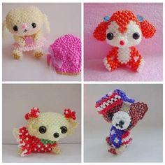 包邮diy饰品配件散珠 手工串珠国产米珠娃娃材料包可爱的小狗系列