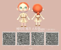 animal crossing qr codes clothes Animal c - clothes Animal Crossing Hair, Animal Crossing Pattern, Animal Crossing Qr Codes Clothes, Motif Acnl, Ac New Leaf, Hair Patterns, Motifs Animal, Rainbow Painting, All About Animals