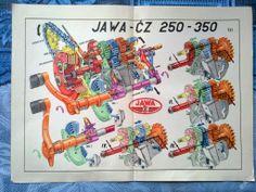 Jawa ČZ 250 350 - Převody -starý plánek