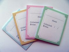Gingham Cherry: Seed Packets - Free Printable