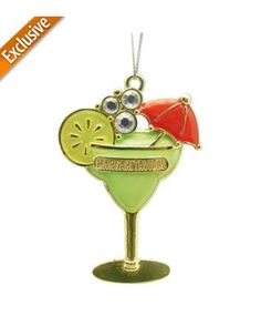 Margaritaville Metal Margarita Glass Ornament