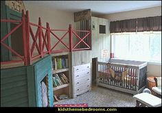cowboy baby bedroom decorating ideas-old western themed baby nursery decorating