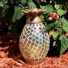 Smart Living Ananas Mosaic LED Pineapple Light ($50) ❤ liked on Polyvore featuring home, outdoors, outdoor lighting, multicolor, pineapple outdoor lighting, pineapple outdoor light, outdoor patio lights and outdoor battery lights