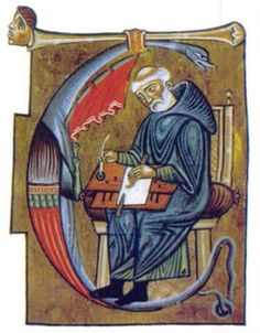 miniatore.jpg (579×742) I can't say if it is 12th r 13th Century, but the lap-top scriptorium ist interesting.