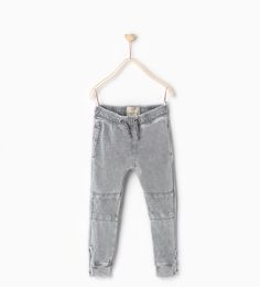 ZARA - KIDS - Plush trousers with knee patches