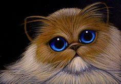 Art: HIMALAYAN PERSIAN CAT by Artist Cyra R. Cancel Himalayan Persian Cats, Himalayan Cat, Baby Kittens, Cute Cats And Kittens, Flat Faced Cat, Cat Ages, Avengers Art, Cat Art Print, Cat Drawing