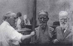 http://www.liveinternet.ru/community/1726655/post293557088/ П.П.Трубецкой лепит портрет Бернарда Шоу. 1926 Фотоархив Музея пейзажа, Вербания, Палланца