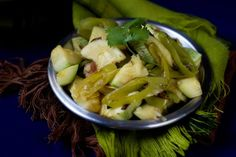 Sauteed Round Zucchini with Green Chiles