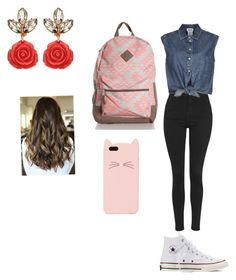 """""""Untitled #125"""" by sarahpeaceandlove ❤ liked on Polyvore featuring Topshop, Jean-Paul Gaultier, Converse and Kate Spade"""