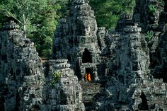 Bayon Temple, Angkor Wat, Cambodia, by Steve McCurry