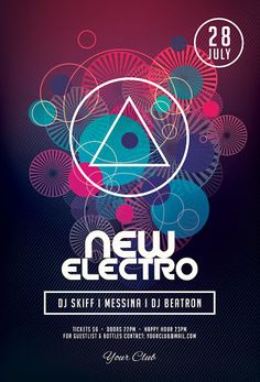 Electro Flyer  Electro Music Design Posters And Flyer Template