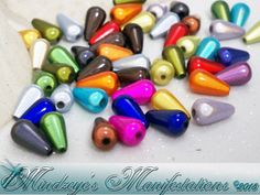 {50} Vibrant Tear Drop Miracle Beads 6x10mm. Starting at $5 on Tophatter.com!