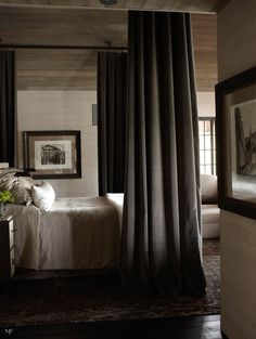 Modern Canopy Bed i like this vignette. the modern edge of everything calms down the