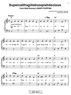 Supercalifragilisticexpialidocious | Sheet Music Direct