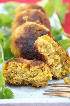 Gemüsebratlinge - egal welches Gemüse, Haferflocken, Kichererbsenmehl, Gewürze