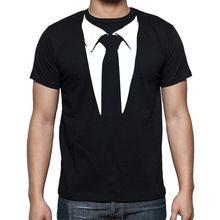 Nouveau Nouveauté Hommes T Chemises Smoking T-shirts Rétro Cravate Drôle Camisetas Hommes O Neck Top T-shirt Occasionnel de Remise En Forme Vêtements Pour Hommes(China (Mainland))