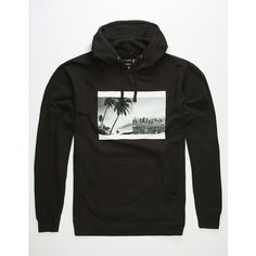 La Familia Double Scene Hoodie ($40) ❤ liked on Polyvore featuring men's fashion, men's clothing, men's hoodies, mens sherpa lined hoodies, mens sweatshirts and hoodies and mens hoodies
