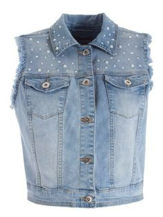 Gilet in denim con perle Motivi | Shop online