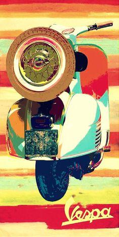 Vintage Italian advertisement for Vespa! Moto Vespa, Scooters Vespa, Piaggio Vespa, Lambretta Scooter, Motor Scooters, Scooter Scooter, Vintage Vespa, Vintage Ads, Poster Retro