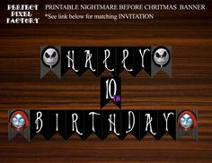 Nightmare Before Christmas Banner Birthday by PerfectPixelFactory