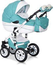 RIKO BRANO ECCO PRAM MALACHIT-15  3in1  CARRYCOT + PUSH CHAIR + CAR SEAT