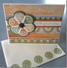Florentine flower card