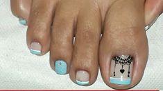Cute Simple Nails, Cute Toe Nails, Cute Toes, Toe Nail Art, Pedicure Nails, Mani Pedi, Manicure, Magic Nails, Toe Nail Designs