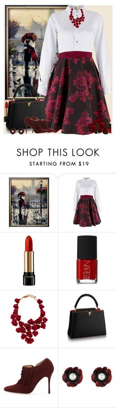"""Bez naslova #3171"" by gita016 ❤ liked on Polyvore featuring Closet, Lancôme, NARS Cosmetics, Oscar de la Renta and Manolo Blahnik"