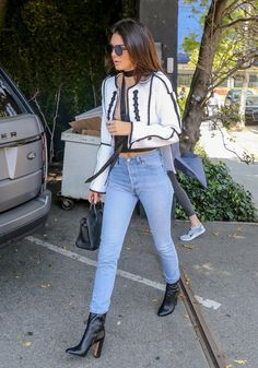 If you need more proof this style of ankle boots is trendy, Kendall Jenner wore her Dear Frances pair with light blue denim.
